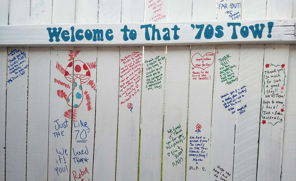 That 70s Tow Guestbook Fence
